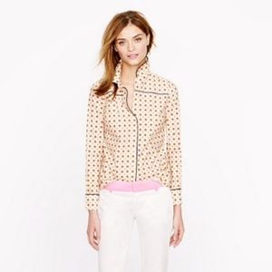 J.Crew Piped Foulard Shirt Button Down - Size 2